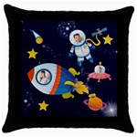 Rocket Man Pillow 1 - Throw Pillow Case (Black)