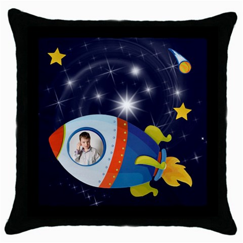 Rocket Man Pillow 2 By Catvinnat   Throw Pillow Case (black)   2ymommuw79sp   Www Artscow Com Front
