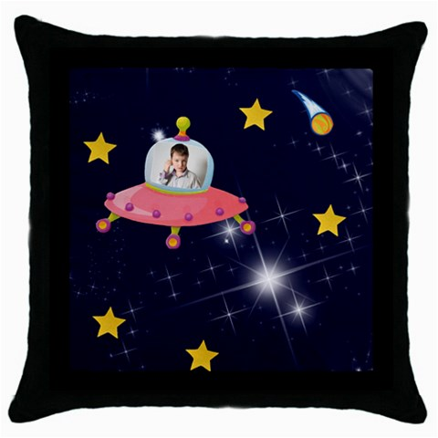 Rocket Man Pillow 4 By Catvinnat   Throw Pillow Case (black)   U7ci2due6fmd   Www Artscow Com Front