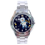 Rocket Man Analogue steel watch - Stainless Steel Analogue Watch