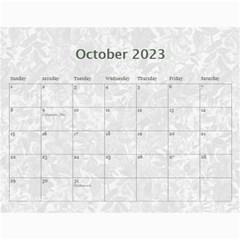 Weathered Floral 2015 Calendar By Catvinnat   Wall Calendar 11  X 8 5  (12 Months)   Ef0qdvy5yfei   Www Artscow Com Oct 2015