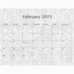 Weathered Floral 2015 Calendar By Catvinnat   Wall Calendar 11  X 8 5  (12 Months)   Ef0qdvy5yfei   Www Artscow Com Feb 2015