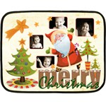 Merry Christmas Mini Fleece Blanket - Fleece Blanket (Mini)