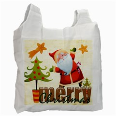 Merry Christmas Gift Bag Double Side Recycle Bag By Catvinnat   Recycle Bag (two Side)   N8cslkvy6v5u   Www Artscow Com Front