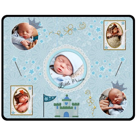 Little Prince Medium Fleece Blanket By Lil    Fleece Blanket (medium)   Cdh6qc744x7i   Www Artscow Com 60 x50 Blanket Front