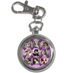 Purple Heart Keychain Watch - Key Chain Watch