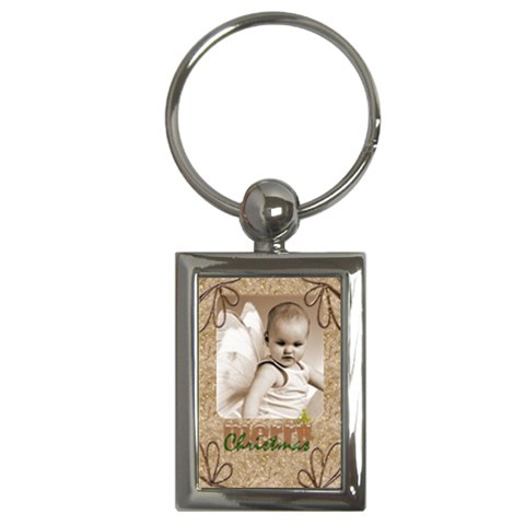 Merry Christmas Rectangle Keychain Keyring By Catvinnat   Key Chain (rectangle)   Fodtrrhuuatr   Www Artscow Com Front
