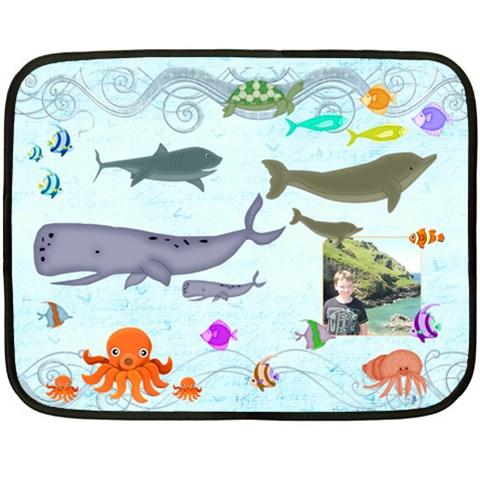 Marina Under The Sea Mini Fleece Blanket By Catvinnat   Fleece Blanket (mini)   35qo3a1p7ok3   Www Artscow Com 35 x27 Blanket