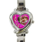 Love Heart Charm Watch - Heart Italian Charm Watch