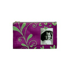 Purple Heart Small Cosmetic Bag By Catvinnat   Cosmetic Bag (small)   Zf93w5yq1o4w   Www Artscow Com Front