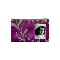 Purple Heart Small Cosmetic Bag By Catvinnat   Cosmetic Bag (small)   Zf93w5yq1o4w   Www Artscow Com Back