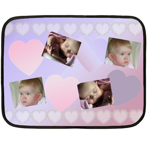 My Little Love Mini Blanket By Deborah   Fleece Blanket (mini)   7qb1ytjc05zx   Www Artscow Com 35 x27 Blanket
