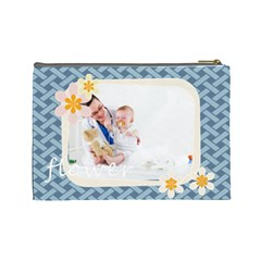 Flower By Joely   Cosmetic Bag (large)   Txmlwbskprca   Www Artscow Com Back