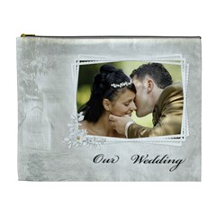 Our Wedding (xl) Cosmetic Bag By Deborah   Cosmetic Bag (xl)   Jfkcktqd2sqx   Www Artscow Com Front