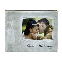 Our Wedding (xl) Cosmetic Bag By Deborah   Cosmetic Bag (xl)   Jfkcktqd2sqx   Www Artscow Com Back