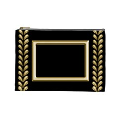 Black And Gold (large) Cosmetic Bag By Deborah   Cosmetic Bag (large)   Qob2ck2xz2fa   Www Artscow Com Front