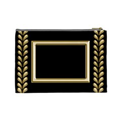 Black And Gold (large) Cosmetic Bag By Deborah   Cosmetic Bag (large)   Qob2ck2xz2fa   Www Artscow Com Back