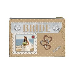 Bride Large Cosmetic Bag By Lil    Cosmetic Bag (large)   Yi4u7db03rb2   Www Artscow Com Back