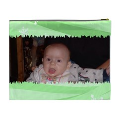 Green Torn Cosmetic Bag Xl By Kim Blair   Cosmetic Bag (xl)   4nqglmy48m7c   Www Artscow Com Back