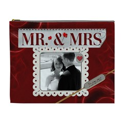 Mr  And Mrs  Xl Cosmetic Bag By Lil    Cosmetic Bag (xl)   0smn07niag7e   Www Artscow Com Front