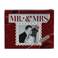 Mr  And Mrs  Xl Cosmetic Bag By Lil    Cosmetic Bag (xl)   0smn07niag7e   Www Artscow Com Back