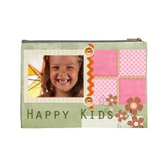 Happy Kids By Joely   Cosmetic Bag (large)   Bfdmxbrjspnx   Www Artscow Com Back