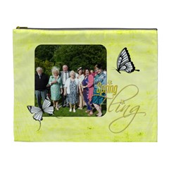 Spring Fling Extra Large Cosmetic Bag By Catvinnat   Cosmetic Bag (xl)   Qgieoowyyzl1   Www Artscow Com Front