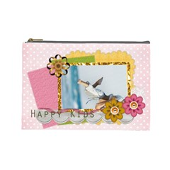 Beauty Flower Kids123 By Joely   Cosmetic Bag (large)   0842tj6hsv75   Www Artscow Com Front