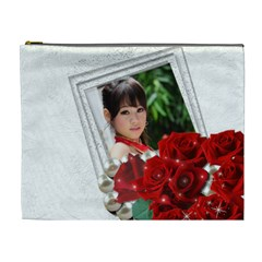 Framed With Roses (xl) Cosmetic Bag By Deborah   Cosmetic Bag (xl)   H8rk6c7c9dp2   Www Artscow Com Front