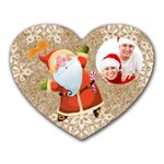 Jolly Santa Heart Mousepad Mouse Mat