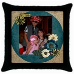 mhelanthrowpillow2 - Throw Pillow Case (Black)