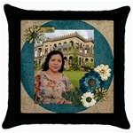 mhelanthrowpillow1 - Throw Pillow Case (Black)