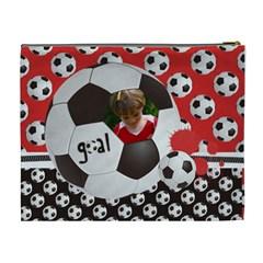Live 4 Soccer/football  Cosmetic Bag (xl)  By Mikki   Cosmetic Bag (xl)   Qcq4u192ys15   Www Artscow Com Back