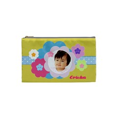 Pastel Flowers Cosmetic Bag Small By Purplekiss   Cosmetic Bag (small)   Njtexwgqj7ab   Www Artscow Com Front