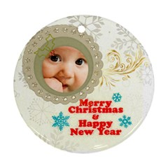 Xmas By Joely   Round Ornament (two Sides)   9c2gykwp7rjo   Www Artscow Com Back