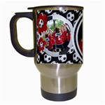 Soccer- travel mug - Travel Mug (White)