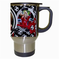 Soccer  Travel Mug By Mikki   Travel Mug (white)   Mrqsc7imk8a5   Www Artscow Com Right