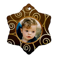 Gold On Gold Snowflake (2 Sided) By Deborah   Snowflake Ornament (two Sides)   9z4in81rrnls   Www Artscow Com Back