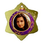 Purple Bauble Ornament (2 sided) - Snowflake Ornament (Two Sides)