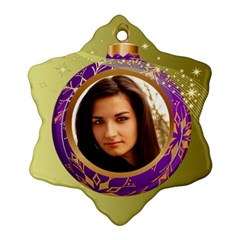 Purple Bauble Ornament (2 Sided) By Deborah   Snowflake Ornament (two Sides)   Tl8i6e518tjv   Www Artscow Com Back