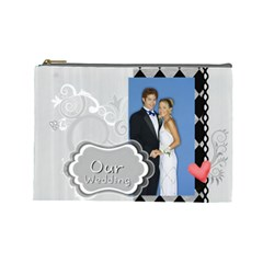 Our Wedding By Joely   Cosmetic Bag (large)   Mjzurcy59cvx   Www Artscow Com Front