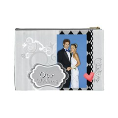 Our Wedding By Joely   Cosmetic Bag (large)   Mjzurcy59cvx   Www Artscow Com Back