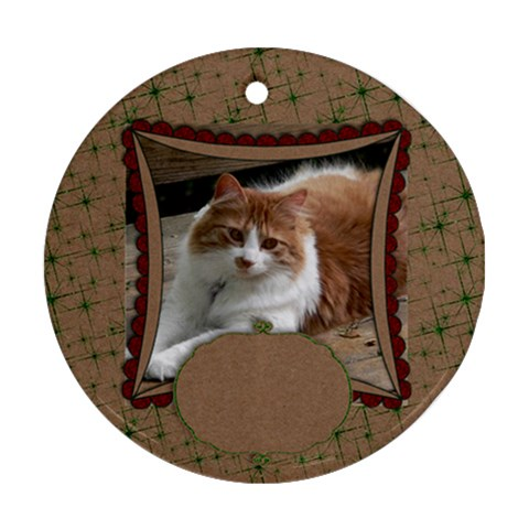 Christmas Glitter & Craft Ornament(round) By Mikki   Ornament (round)   B01qusmm2fir   Www Artscow Com Front