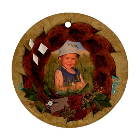 Fall Leaves, Autumn Ornament (round) By Mikki   Ornament (round)   Twyou17k8r94   Www Artscow Com Front