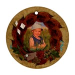 Fall leaves, autumn-ornament (round)