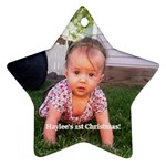 haylees first - Ornament (Star)