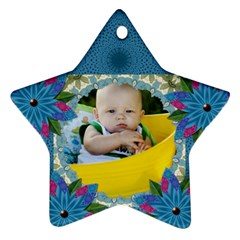 My Flower Star Oranament (2 Sides) By Lil    Star Ornament (two Sides)   Fjolsosxld9a   Www Artscow Com Back