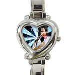 sadewatch - Heart Italian Charm Watch