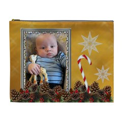 Christmas Memories Xl Cosmetic Bag By Lil    Cosmetic Bag (xl)   B0fijqo9bsf4   Www Artscow Com Front