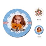 happy day - Playing Cards (Round)